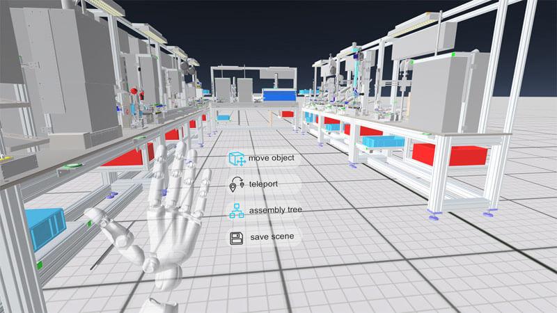 Das System wird über Gesten und ein virtuelles Menü bedient